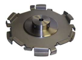 Dispersion disc with stiffener plates and removable hud